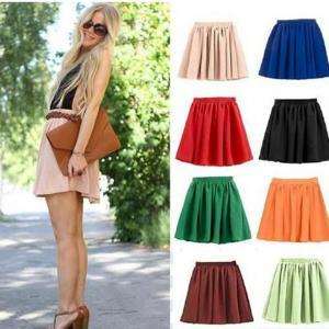 Red Lady Retro High Waist Pleated D..