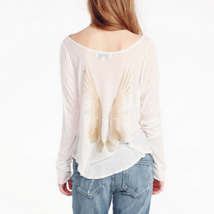 Retro Loose Long-Sleeved T-Shirt Pr..