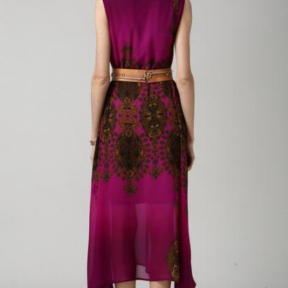 Vintage Style Ethnic Print Sequins ..