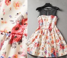 Floral Sleeveless Dr..
