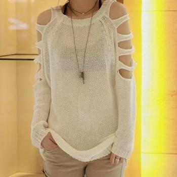 Strapless Pullover Long Sweater A