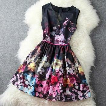 High-End Retro Sleeveless Vest SkirtA1 A