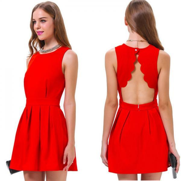 Backless Sleeveless Dress Sexy Party Dress